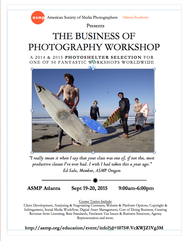 ASMP Atlanta: Business of Photography Workshop