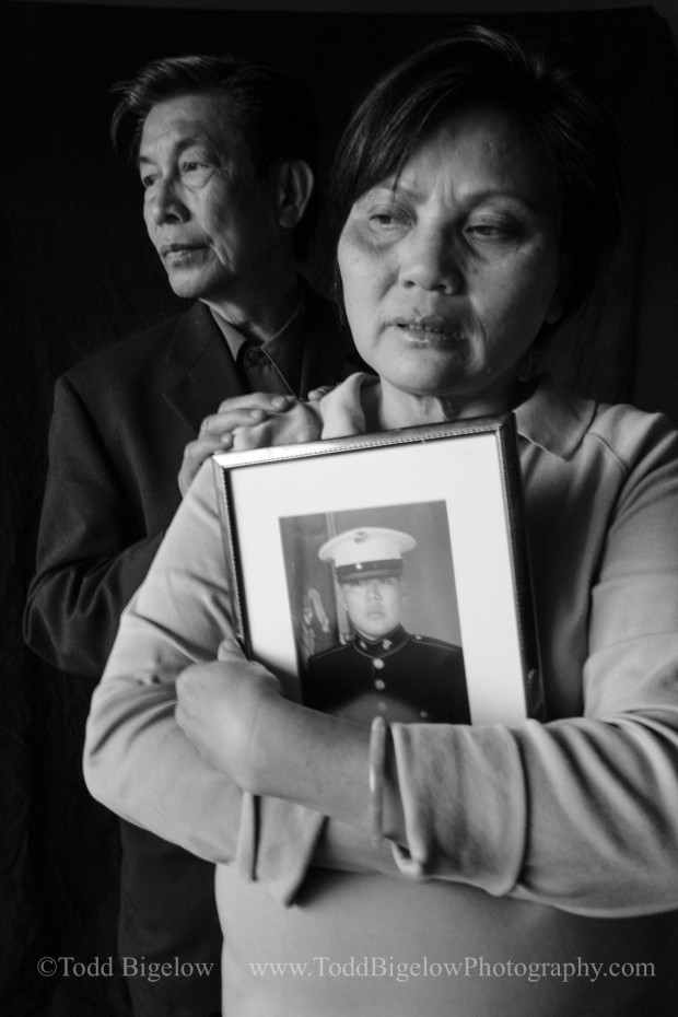 Portrait of Mourning Family Photographed for Time